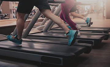 sign up now - running on a treadmill